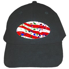 Confetti Star Parade Usa Lines Black Cap