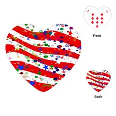 Confetti Star Parade Usa Lines Playing Cards (heart)