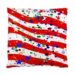 Confetti Star Parade Usa Lines Standard Cushion Case (two Sides)