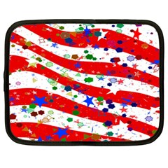 Confetti Star Parade Usa Lines Netbook Case (xxl)