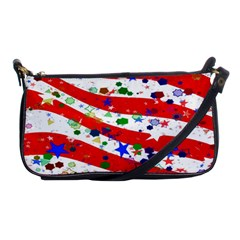 Confetti Star Parade Usa Lines Shoulder Clutch Bags by Nexatart