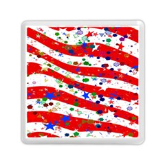Confetti Star Parade Usa Lines Memory Card Reader (square)  by Nexatart
