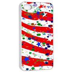 Confetti Star Parade Usa Lines Apple Iphone 4/4s Seamless Case (white) by Nexatart