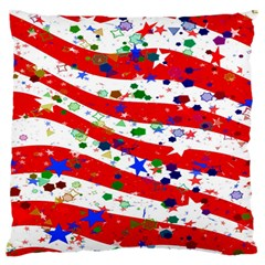 Confetti Star Parade Usa Lines Large Flano Cushion Case (two Sides) by Nexatart