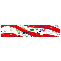 Confetti Star Parade Usa Lines Flano Scarf (small) by Nexatart