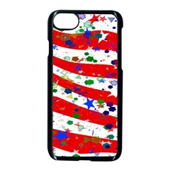 Confetti Star Parade Usa Lines Apple Iphone 7 Seamless Case (black) by Nexatart