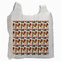 Construction Pattern Background Recycle Bag (two Side)