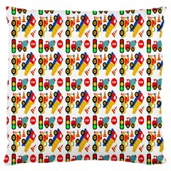 Construction Pattern Background Large Cushion Case (one Side)