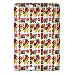 Construction Pattern Background Amazon Kindle Fire Hd (2013) Hardshell Case
