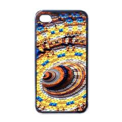 Complex Fractal Chaos Grid Clock Apple Iphone 4 Case (black)