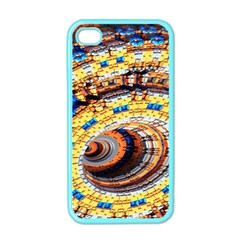 Complex Fractal Chaos Grid Clock Apple Iphone 4 Case (color)
