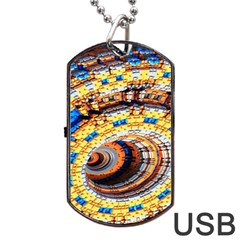 Complex Fractal Chaos Grid Clock Dog Tag Usb Flash (one Side)