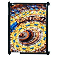 Complex Fractal Chaos Grid Clock Apple Ipad 2 Case (black)