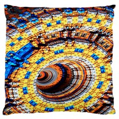 Complex Fractal Chaos Grid Clock Large Cushion Case (two Sides)