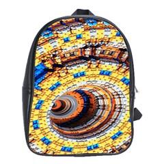Complex Fractal Chaos Grid Clock School Bags (xl)