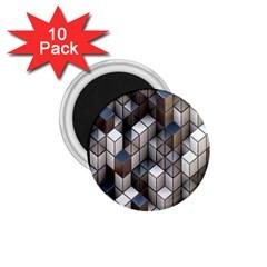 Cube Design Background Modern 1 75  Magnets (10 Pack)