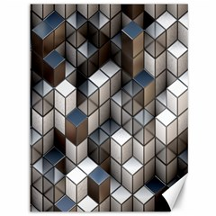 Cube Design Background Modern Canvas 36  X 48