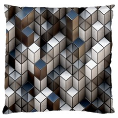 Cube Design Background Modern Large Cushion Case (two Sides) by Nexatart