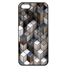 Cube Design Background Modern Apple Iphone 5 Seamless Case (black)