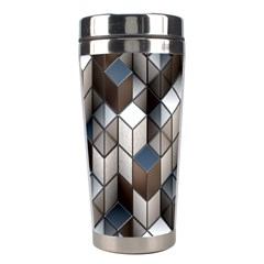 Cube Design Background Modern Stainless Steel Travel Tumblers