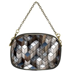 Cube Design Background Modern Chain Purses (two Sides)