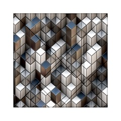 Cube Design Background Modern Acrylic Tangram Puzzle (6  X 6 )