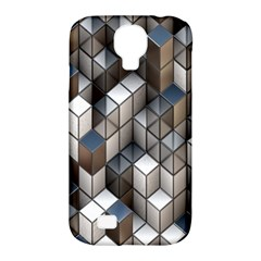 Cube Design Background Modern Samsung Galaxy S4 Classic Hardshell Case (pc+silicone)