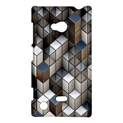 Cube Design Background Modern Nokia Lumia 720