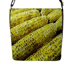 Corn Grilled Corn Cob Maize Cob Flap Messenger Bag (l)  by Nexatart