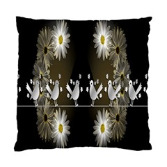 Daisy Bird  Standard Cushion Case (two Sides) by Nexatart