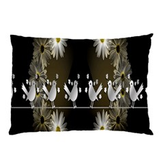 Daisy Bird  Pillow Case by Nexatart