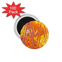Crazy Patterns In Yellow 1 75  Magnets (100 Pack)  by Nexatart