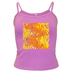 Crazy Patterns In Yellow Dark Spaghetti Tank by Nexatart