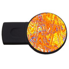 Crazy Patterns In Yellow USB Flash Drive Round (4 GB) by Nexatart