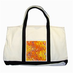 Crazy Patterns In Yellow Two Tone Tote Bag