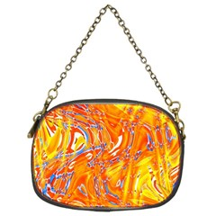 Crazy Patterns In Yellow Chain Purses (two Sides)