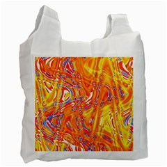 Crazy Patterns In Yellow Recycle Bag (one Side) by Nexatart