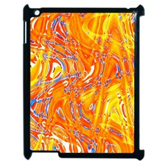 Crazy Patterns In Yellow Apple Ipad 2 Case (black) by Nexatart