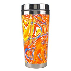Crazy Patterns In Yellow Stainless Steel Travel Tumblers