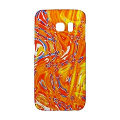 Crazy Patterns In Yellow Galaxy S6 Edge by Nexatart