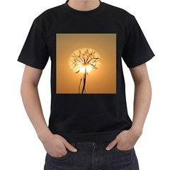 Dandelion Sun Dew Water Plants Men s T Shirt (black)