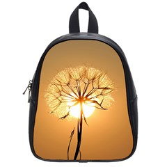 Dandelion Sun Dew Water Plants School Bags (small)  by Nexatart