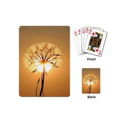 Dandelion Sun Dew Water Plants Playing Cards (mini)