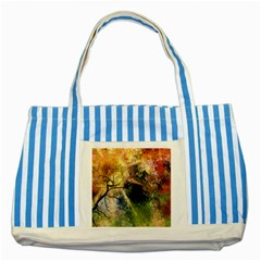 Decoration Decorative Art Artwork Striped Blue Tote Bag