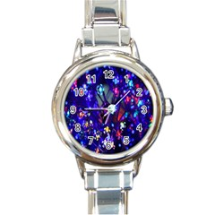 Decorative Flower Shaped Led Lights Round Italian Charm Watch