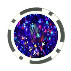 Decorative Flower Shaped Led Lights Poker Chip Card Guard (10 Pack)