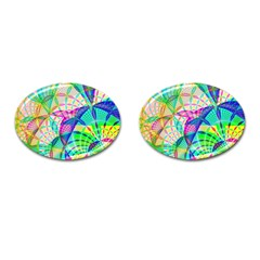 Design Background Concept Fractal Cufflinks (oval)