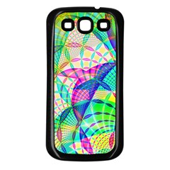 Design Background Concept Fractal Samsung Galaxy S3 Back Case (black)
