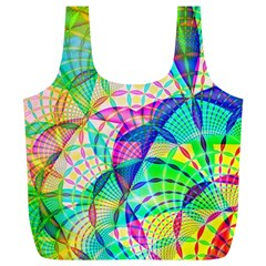 Design Background Concept Fractal Full Print Recycle Bags (l)