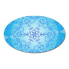 Design Winter Snowflake Decoration Oval Magnet by Nexatart